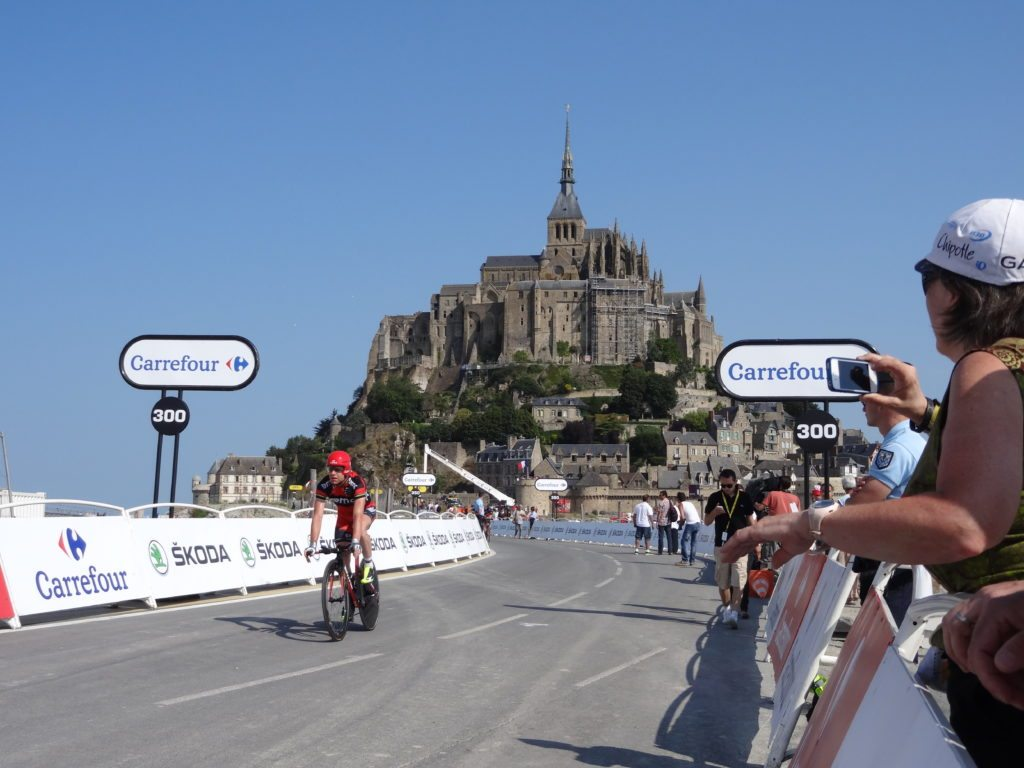 Le Tour de France au Mont Saint-Michel en 2013